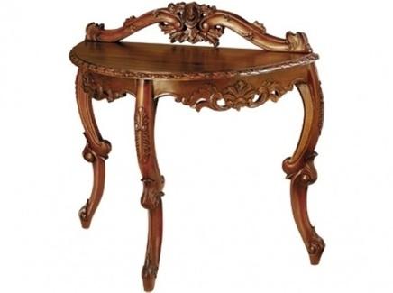 Консоль (satin furniture) коричневый 100x76x46 см.