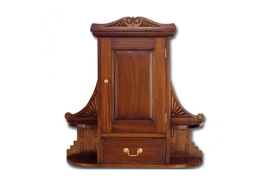 Шкаф навеснойПосудные шкафы<br>Ручная работа.<br><br>Material: Красное дерево<br>Width см: 69<br>Depth см: 20<br>Height см: 80