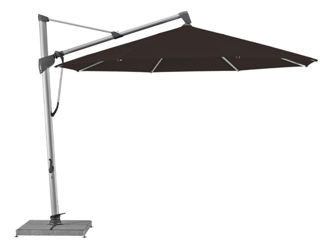 Уличный зонт Sombrano S+Тенты и зонты<br>Круглый зонт с боковой опорой, каркас из анодированного алюминия.&amp;lt;div&amp;gt;Вращается вокруг своей оси.&amp;amp;nbsp;&amp;lt;/div&amp;gt;&amp;lt;div&amp;gt;Регулируется угол наклона купола.&amp;amp;nbsp;&amp;lt;/div&amp;gt;&amp;lt;div&amp;gt;Плотность ткани 250 g/m2.&amp;amp;nbsp;&amp;lt;/div&amp;gt;&amp;lt;div&amp;gt;Максимальная ветровая нагрузка 35км/ч.&amp;amp;nbsp;&amp;lt;/div&amp;gt;&amp;lt;div&amp;gt;В комплект входит:  база 180кг,декоративная крышка для базы, защитный чехол.&amp;amp;nbsp;&amp;lt;/div&amp;gt;<br><br>Material: Алюминий<br>Height см: 300<br>Diameter см: 400