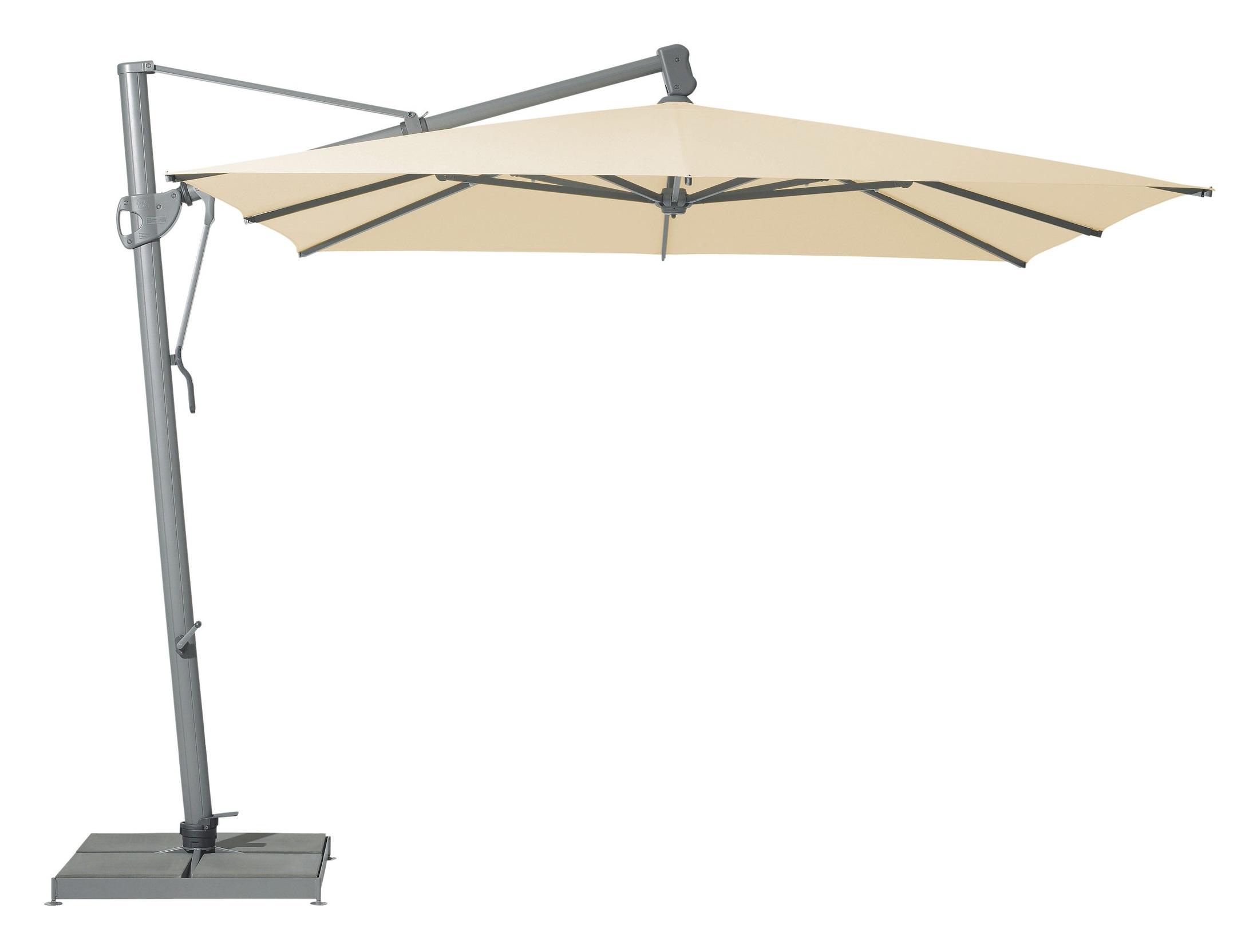 Уличный зонт Sombrano easyТенты и зонты<br>Квадратный зонт с боковой опорой, каркас из крашенного в темно-серый цвет алюминия.&amp;amp;nbsp;&amp;lt;div&amp;gt;Вращается вокруг своей оси.&amp;amp;nbsp;&amp;lt;/div&amp;gt;&amp;lt;div&amp;gt;Регулируется угол наклона купола.&amp;amp;nbsp;&amp;lt;/div&amp;gt;&amp;lt;div&amp;gt;Плотность ткани 220 g/m2.&amp;amp;nbsp;&amp;lt;/div&amp;gt;&amp;lt;div&amp;gt;Максимальная ветровая нагрузка 45км/ч.&amp;amp;nbsp;&amp;lt;/div&amp;gt;&amp;lt;div&amp;gt;В комплект входит:  база 180кг, декоративная крышка для базы, защитный чехол.&amp;amp;nbsp;&amp;lt;/div&amp;gt;<br><br>Material: Алюминий<br>Ширина см: 300<br>Высота см: 300<br>Глубина см: 300
