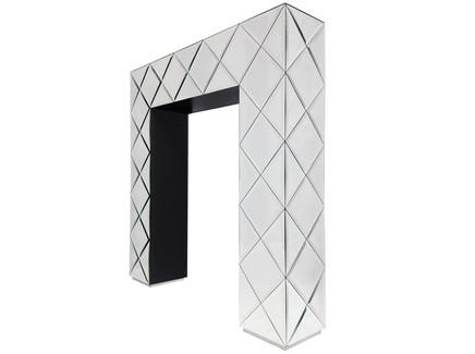 Консоль fergie (zmebel) серебристый 107x108x21 см.