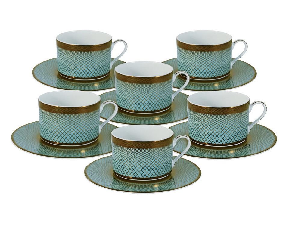 Чайный набор Бирюза на 6 персонЧайные пары, чашки и кружки<br><br><br>Material: Фарфор