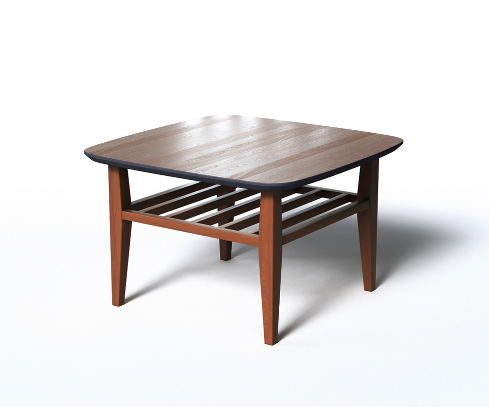Журнальный стол WILSONЖурнальные столики<br>Журнальный столик WILSON в стиле скандинавского минимализма привлекает внимание оригинальной отделкой. Основная часть выполнена &amp;amp;nbsp;из натурального дерева темно-коричневого цвета. Нижняя поверхность столешницы окрашена в черный цвет, что придает &amp;amp;nbsp;внешнему виду строгости. Такой контрастный элемент позволит варьировать декором в обстановке.<br><br>Material: Дерево<br>Ширина см: 70<br>Высота см: 45