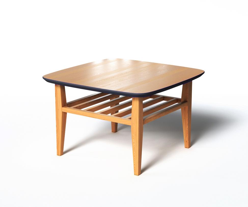 Журнальный стол WILSONЖурнальные столики<br>Журнальный столик WILSON удобен, практичен и функционален в использовании. Широкая столешница имеет скругленные углы, дополнительная реечная полка может служит своеобразной подставкой для ног, если украсить ее подходящей подушкой. Насыщенно-черный цвет низа столешницы дает возможность выбора&amp;amp;nbsp;внешнего декора. Например, на столик можно поставить черную вазу или свечу.<br><br>Material: Дерево<br>Length см: 70<br>Width см: 70<br>Depth см: None<br>Height см: 45<br>Diameter см: None