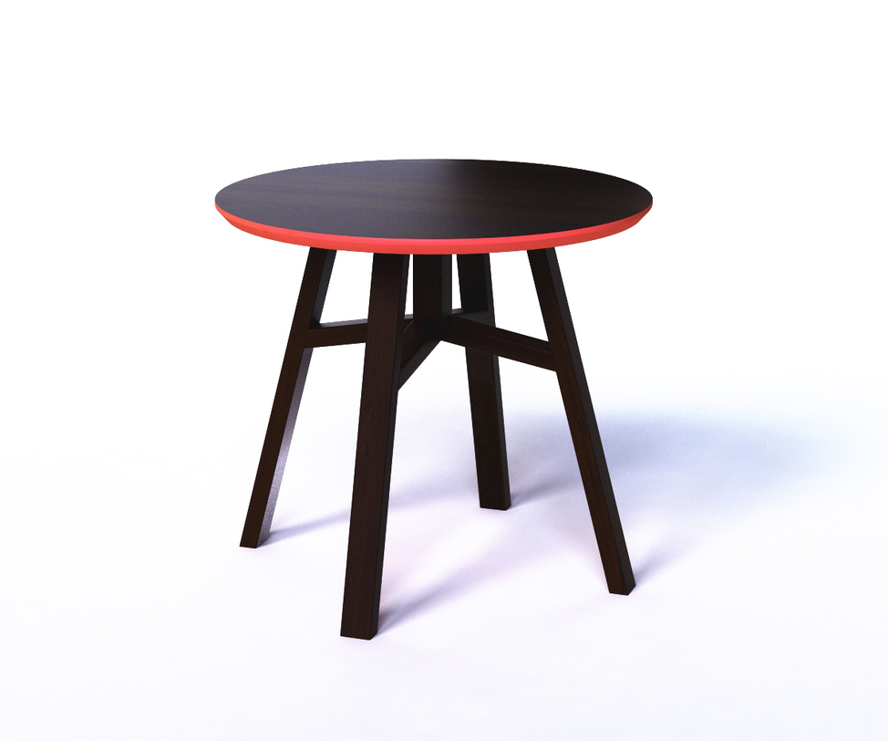Журнальный стол MACKЖурнальные столики<br>Круглый журнальный столик MACK выглядит стильно благодаря контрастной комбинации красного и черного. Конструкция, похожая на табурет, делает его легким и компактным предметом, который легко переместить из одного место в другое. Круглая форма столешницы находится в равновесии с четырьмя ножками, образующими форму трапеции. А красная окантовка позволит поиграть с цветовым оформлением пространства.<br><br>Material: Дерево<br>Length см: None<br>Width см: None<br>Depth см: None<br>Height см: 50<br>Diameter см: 55