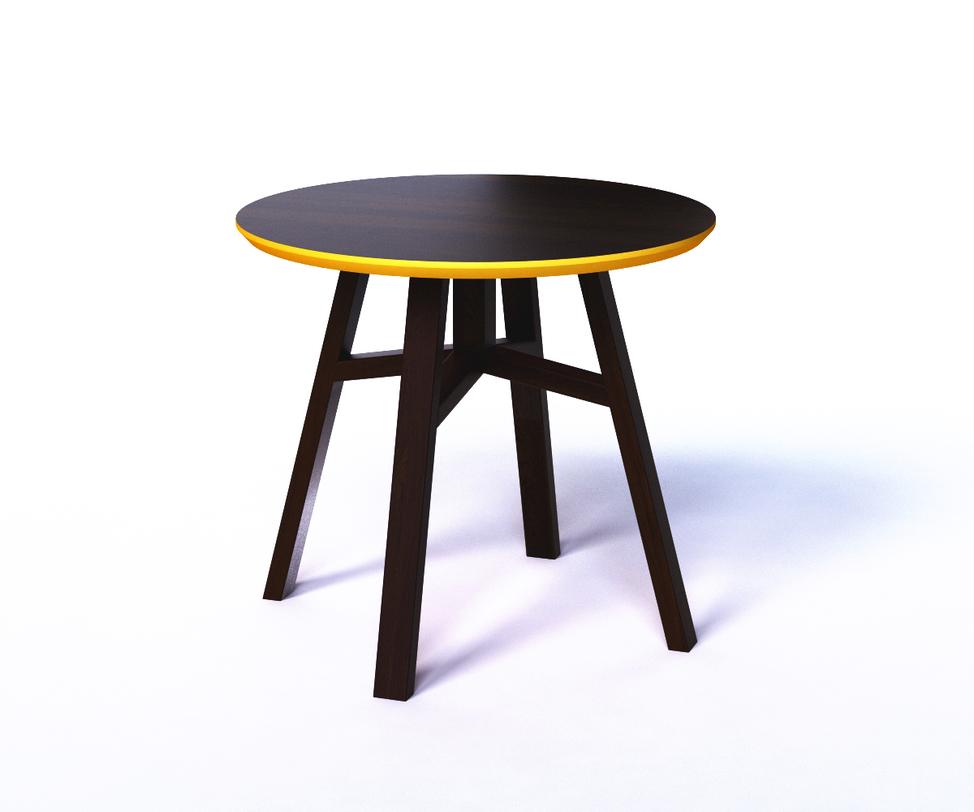 Журнальный стол MACKЖурнальные столики<br>Яркий столик, похожий на табурет, обрадует любителей лаконичной мебели, не лишенной цветовых акцентов. В нем практичность и функциональность соединены в стильный дизайн. Четыре наклонные ножки образуют форму трапеции, придавая легкость внешнему виду. Ярко-желтое обрамление торцевой и нижней части столешницы добавит индивидуальности интерьеру.<br><br>Material: Дерево<br>Высота см: 50