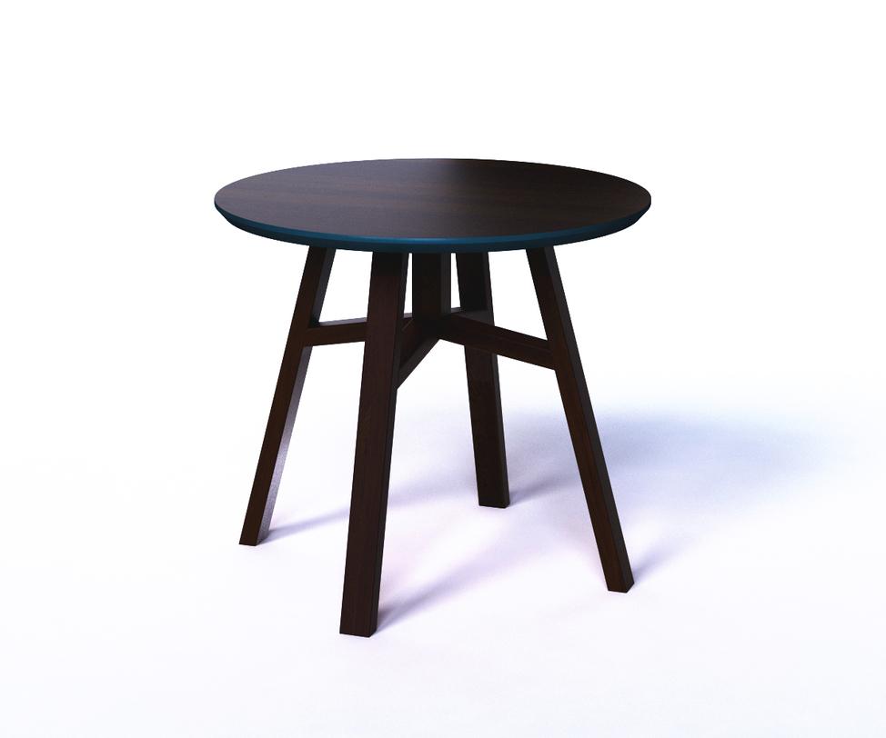 Журнальный стол MACKЖурнальные столики<br>Яркий столик в форме табурета обрадует любителей лаконичной мебели, не лишенной цветовых акцентов. В нем практичность и функциональность соединены в стильный дизайн. Четыре наклонные ножки образуют трапецивидную форму основания, придавая устойчивость. Глубокий синий цвет в обрамлении торцевой и нижней части столешницы добавляет эффектности в интерьер.<br><br>kit: None<br>gender: None