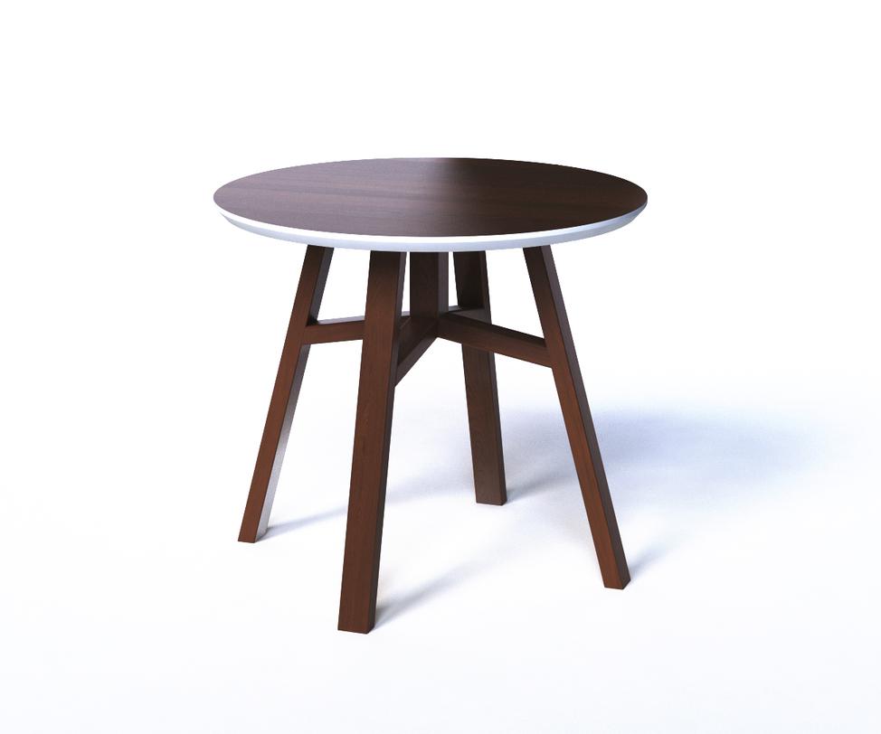 Журнальный стол MACKЖурнальные столики<br>Круглый журнальный столик выполнен в контрастной гамме белого и коричневого цветов. Это столик внешне очень похож на табурет, что делает его легким и функциональным предметом. Монохромная отделка позволяет экспериментировать с внешним декором, а форма рождает поле для опытов с использованием. Столик с легкостью может использован в качестве тумбы, табурета или детского столика.<br><br>Material: Дерево<br>Высота см: 50