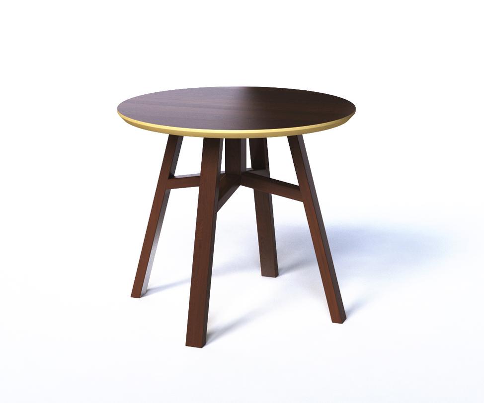 Журнальный стол MACKЖурнальные столики<br>Круглый журнальный столик выполнен в сдержанной цветовой гамме &amp;amp;nbsp;темно-коричневого и бежевого цветов. Это столик внешне очень похож на табурет, что делает его легким и компактным предметом мебели. Лаконичный характер подчеркивает яркая отделка столешницы: ее кромка и низ выкрашены в бежевый цвет. Такое сочетание позволяет экспериментировать с внешним декором.<br><br>Material: Дерево<br>Length см: None<br>Width см: None<br>Depth см: None<br>Height см: 50<br>Diameter см: 55