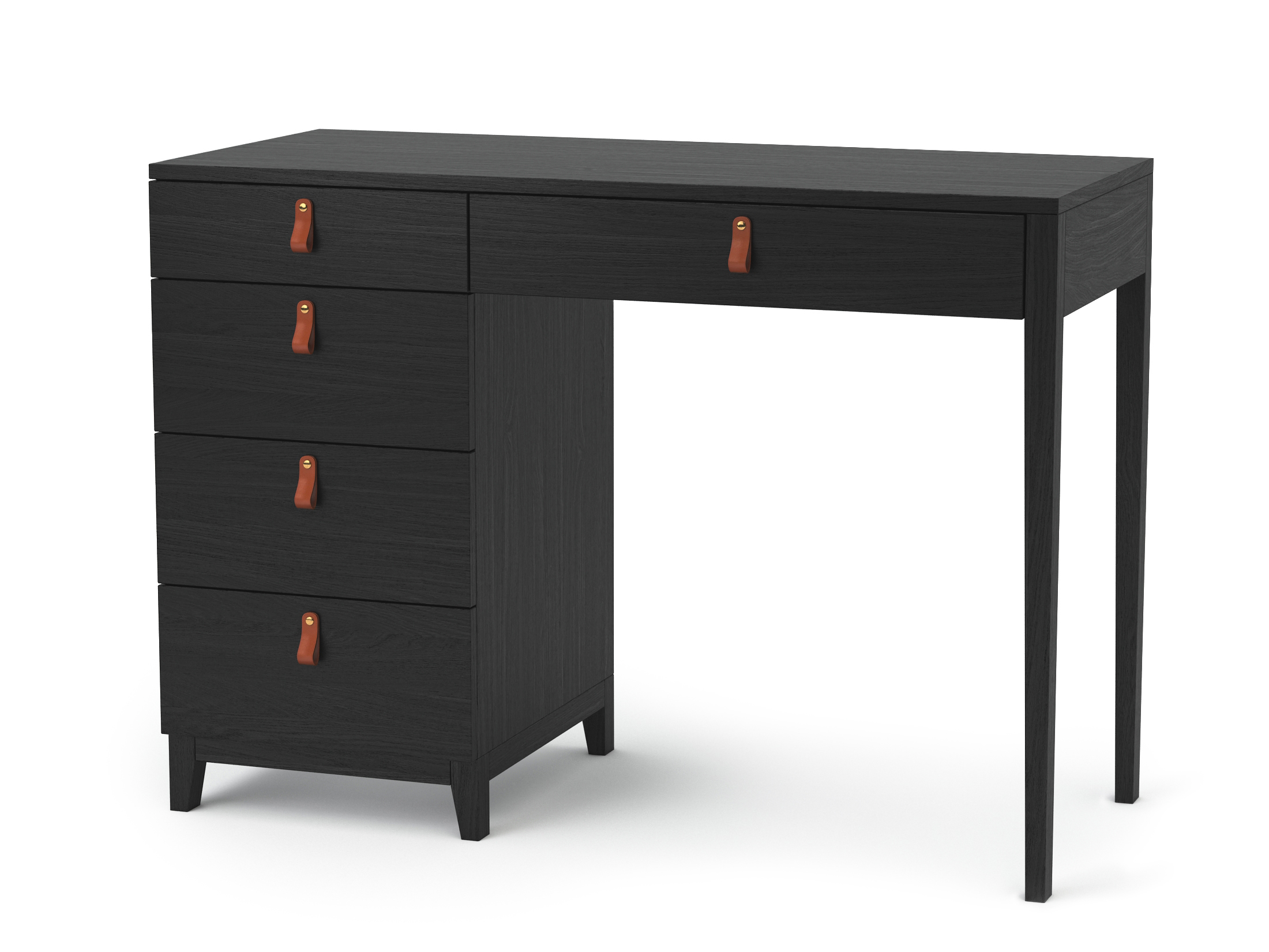 Консольный столJaggerПисьменные столы<br>Консольный стол JAGGER  обладает лаконичным дизайном с изысканными, кожаными ручками и универсальными характеристиками, благодаря своим размерам и функциональным ящикам. JAGGER органично будет смотреться, как в маленьких и узких местах, так и в больших пространствах. В небольших помещениях, может использоваться в качестве письменного стола.<br><br>Material: МДФ<br>Ширина см: 100<br>Высота см: 75<br>Глубина см: 50