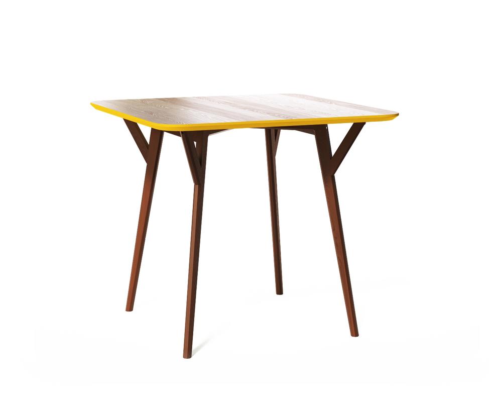 Обеденный стол SQUAREОбеденные столы<br>Стол Square. Не классический квадратный стол от The IDEA. Удобная столешница без острых углов, основание из массива дуба, выверенные пропорции и множество цветов отделки – особенно удачная находка для небольших помещений и общественных пространств.<br>Срок изготовления 7 рабочих дней.<br><br>Material: Дерево<br>Length см: None<br>Width см: 90<br>Depth см: 90<br>Height см: 75<br>Diameter см: None