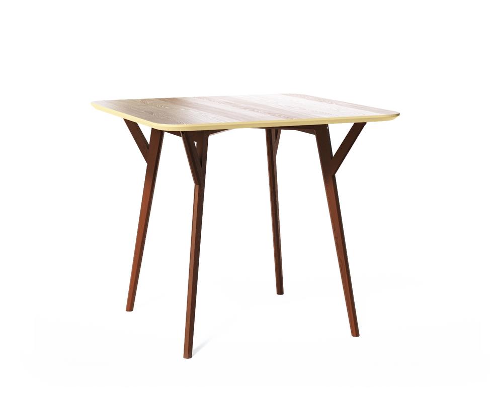 Обеденный стол SQUAREОбеденные столы<br>Стол Square. Не классический квадратный стол от The IDEA. Удобная столешница без острых углов, основание из массива дуба, выверенные пропорции и множество цветов отделки – особенно удачная находка для небольших помещений и общественных пространств.<br>Срок изготовления 7 рабочих дней.<br><br>Material: Дерево<br>Length см: 90<br>Width см: 90<br>Depth см: None<br>Height см: 75<br>Diameter см: None