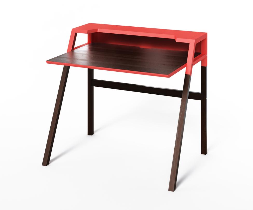 Компьютерный стол YOUKПисьменные столы<br>Компьютерный стол YOUK является воплощением идеи функциональности. Удобная рабочая поверхность, полка для канцелярии, углубление для монитора, отверстие для проводов – эти детали создают действительно комфортное рабочее место.<br><br>Material: Дерево<br>Ширина см: 70<br>Высота см: 88<br>Глубина см: 90
