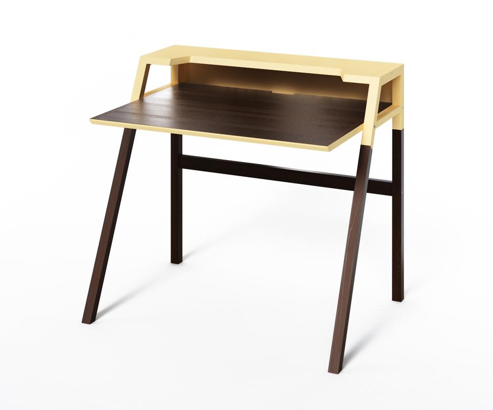Компьютерный стол YOUKПисьменные столы<br>Столик&amp;amp;nbsp;YOUK создан для продуктивной работы за компьютером. Контраст двух тонов - идеальное сочетание для рабочей зоны. Темный цвет не будет отвлекать, а спокойный бежевый снимет усталость при долгом рабочем процессе. Идеален для интерьеров, выполненных в стиле минимализма.<br><br>Material: Дерево<br>Length см: None<br>Width см: 70<br>Depth см: 90<br>Height см: 88<br>Diameter см: None
