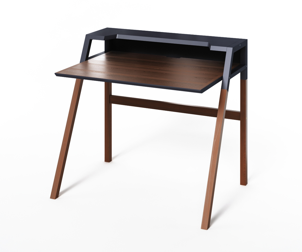 Компьютерный стол YOUKПисьменные столы<br>Столик&amp;amp;nbsp;YOUK демонстрирует лаконичные формы и стильный дизайн. Использование глубокого черного цвета и темного дерева концентрируют внимание. Идеален для интерьеров, выполненных в минималистичных стилях.<br><br>Material: Дерево<br>Ширина см: 70<br>Высота см: 88<br>Глубина см: 90