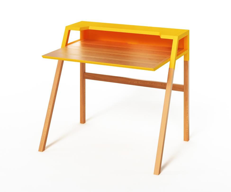 Компьютерный стол YOUKПисьменные столы<br>&amp;lt;p class=&amp;quot;MsoNormal&amp;quot;&amp;gt;Яркий и удобный компьютерный столик придется по душе истинным любителям минимализма в интерьере. В нем геометрически выверена каждая<br>деталь. Такой прагматичный подход к строению не<br>лишает столик YOUK функциональности. Он одновременно и стильный за счет желтого цвета, и практичный за счет наличия дополнительной полки. Идеально подойдет как для ноутбука, так и для стационарного компьютера.&amp;lt;/p&amp;gt;<br><br>Material: Дерево<br>Ширина см: 70<br>Высота см: 88<br>Глубина см: 90