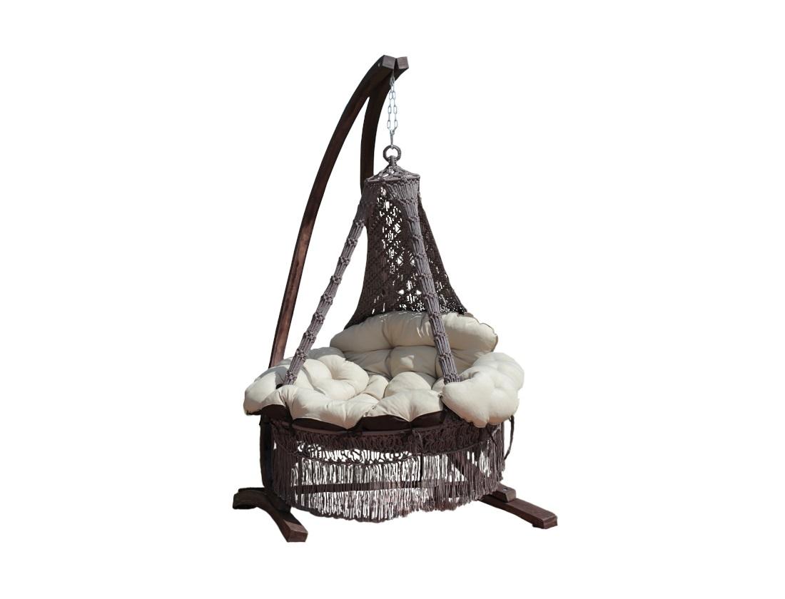 Подвесное кресло-качели CARTAGENA (коричневый)Подвесные кресла<br>&amp;lt;div&amp;gt;Представляем подвесной гамак-кресло CARTAGENA с невероятно мягкими и комфортными подушками. Чехлы у подушек сделаны из хлопко-полиэфирной ткани, она не теряет формы. Наполнитель подушек – материал «холлофайбер» не отсыревает, быстро восстанавливает форму. Для удобства в гамаке-кресле CARTAGENA предусмотрена регулировка по высоте передней части кресла, таким образом, что с помощью фиксаторов внутри декоративной оплетки, можно настроить наиболее комфортное положение кресла.&amp;lt;/div&amp;gt;&amp;lt;div&amp;gt;Характеристики&amp;lt;/div&amp;gt;&amp;lt;div&amp;gt;Размеры кресла: ?120?180(H) см&amp;lt;/div&amp;gt;&amp;lt;div&amp;gt;Вес кресла с подушками: 16 кг&amp;lt;/div&amp;gt;&amp;lt;div&amp;gt;Выдерживаемый вес: 200 кг&amp;lt;/div&amp;gt;&amp;lt;div&amp;gt;Цвет: коричневый&amp;amp;nbsp;&amp;lt;/div&amp;gt;&amp;lt;div&amp;gt;Размеры упаковки: 120х30х135&amp;lt;/div&amp;gt;&amp;lt;div&amp;gt;Каркас в стоимость не входит.&amp;lt;/div&amp;gt;<br><br>Material: Текстиль<br>Высота см: 180