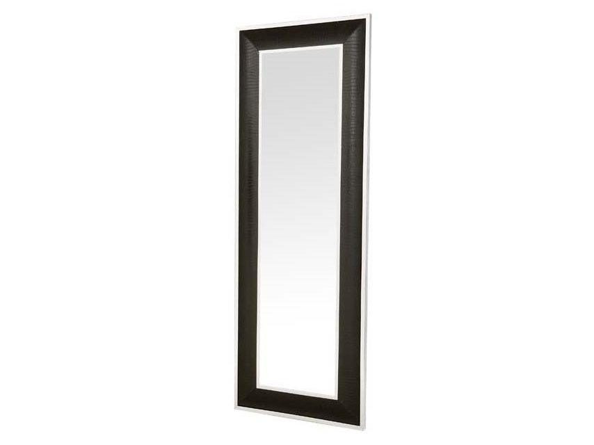 ЗеркалоНастенные зеркала<br>Зеркало Mirror Croco в металлической раме с оттделкой &amp;amp;quot;под алигатора&amp;amp;quot; черного цвета.<br><br>Material: Металл<br>Width см: 80<br>Height см: 220