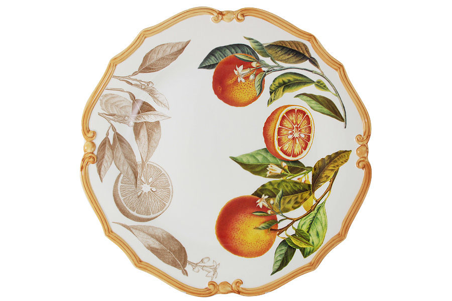 Блюдо круглое АпельсиныДекоративные блюда<br><br><br>Material: Керамика<br>Diameter см: 37