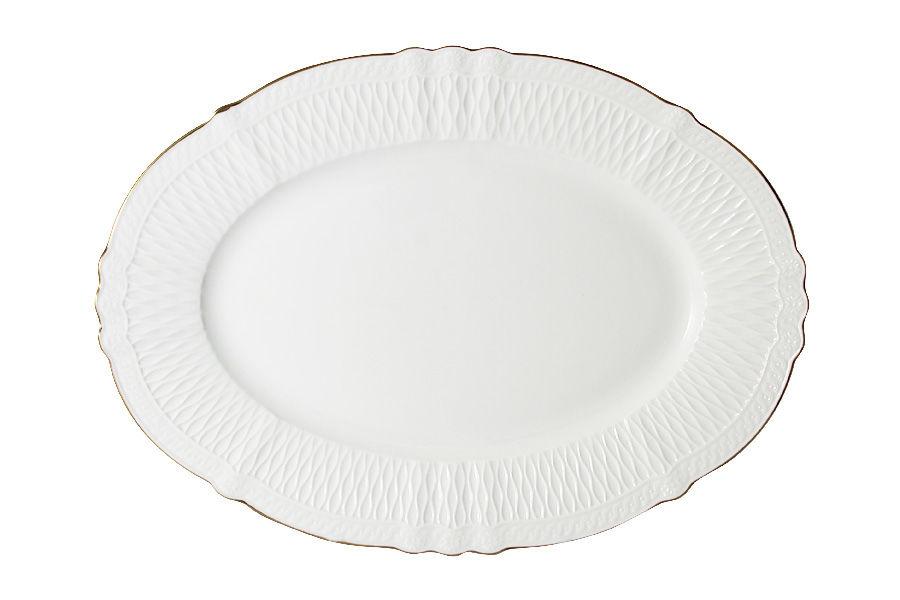 Блюдо овальное БьянкаДекоративные блюда<br><br><br>Material: Фарфор<br>Ширина см: 30.0<br>Глубина см: 22.0