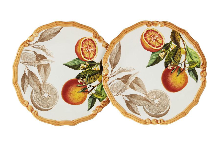"""Набор из 2-х десертных тарелок """"Апельсины"""""""