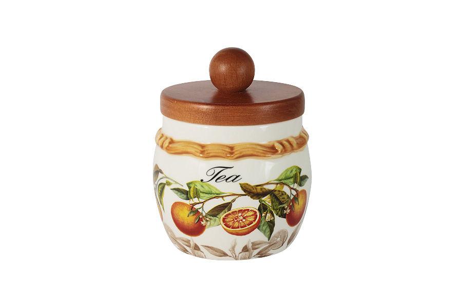 Банка для сыпучих продуктов АпельсиныЕмкости для хранения<br>Объем банки 0,5 л<br><br>Material: Керамика<br>Высота см: 13