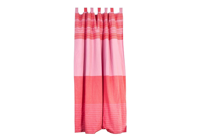Штора ЭтникаШторы<br>Штора из хлопковой ткани розового цвета, рисунок - тонкие контрастные полосы &amp;quot;страйп&amp;quot;.&amp;amp;nbsp;&amp;lt;div&amp;gt;Крепление - внешние петли.&amp;lt;/div&amp;gt;<br><br>Material: Хлопок<br>Length см: None<br>Width см: 160<br>Depth см: 260<br>Height см: None<br>Diameter см: None