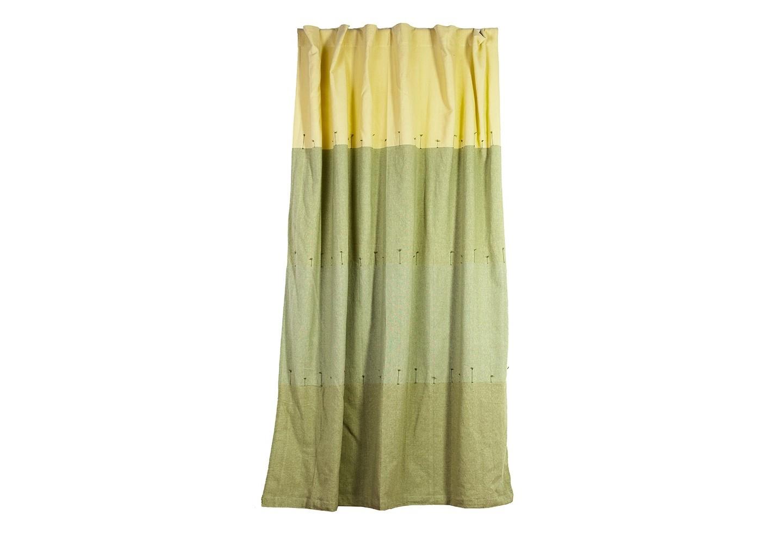 Штора  Фисташковое деревоШторы<br>Штора из хлопковой ткани с оригинальным цветовым сочетанием различных оттенков зеленого и светло-желтого гаммы, декоративные узелки. Крепление - внутренние петли.<br><br>Material: Хлопок<br>Length см: None<br>Width см: 160<br>Depth см: 260<br>Height см: None<br>Diameter см: None