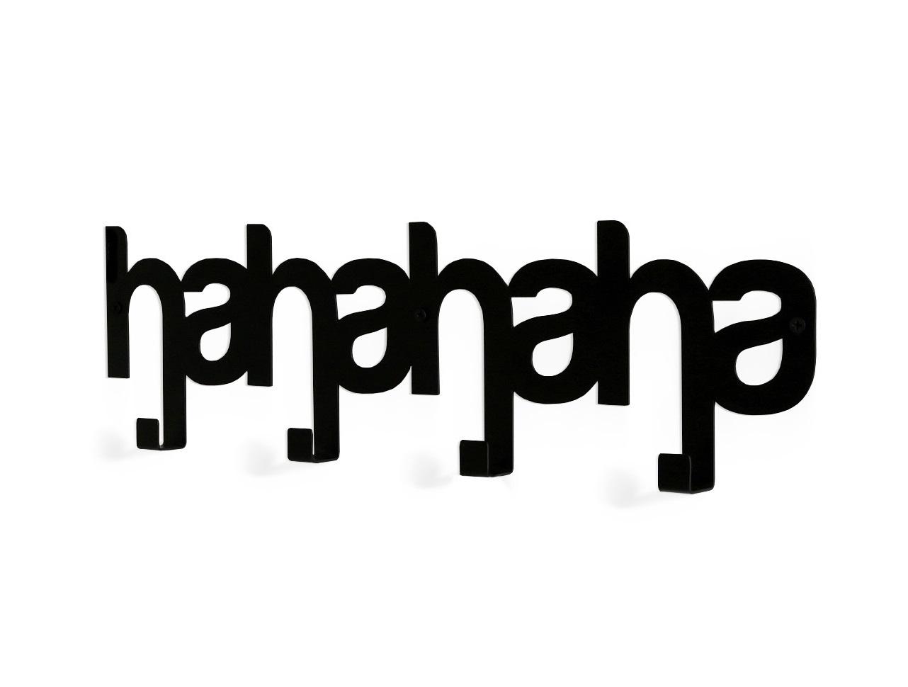 Вешалка HAHAHAВешалки<br>Вдохновением к созданию этого предмета интерьера, послужил виртуальный язык социальных сетей, которым ежедневно пользуются <br>миллионы людей, вне зависимости от возраста или национальности.<br>Такой предмет интерьера послужит креативным дополнением интерьера <br>Вашей прихожей, а также детской комнаты.&amp;amp;nbsp;<br>Вешалка изготовлена из прочной стали, в различных цветовых решениях и легко крепится к стене с помощью обычных дюбелей.<br><br>Material: Сталь<br>Length см: None<br>Width см: 50<br>Depth см: 3<br>Height см: 16<br>Diameter см: None
