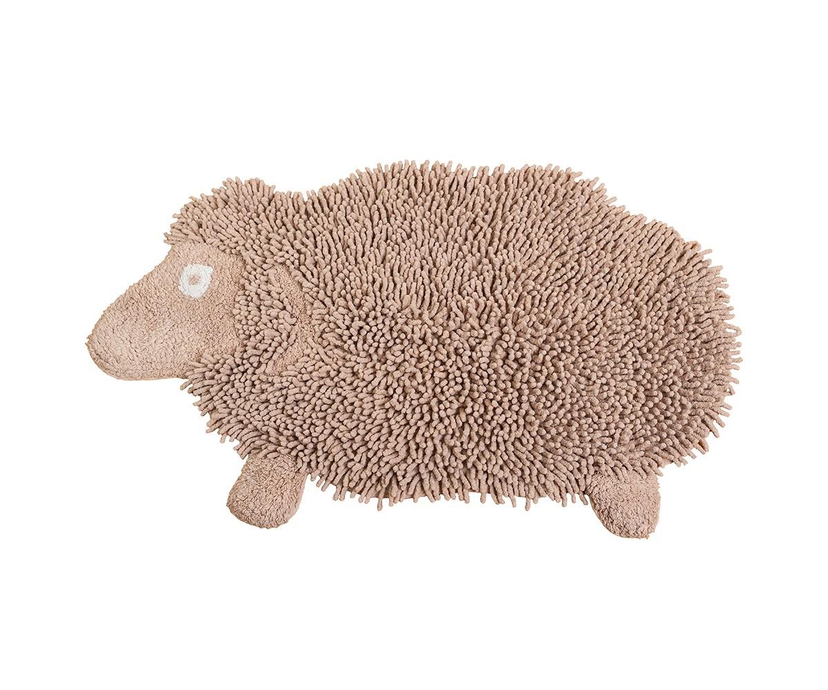 Коврик Овечка ДоллиФигурные ковры<br>Коврик имеет оригинальный дизайн в виде овечки, необычайно мягкий и приятный на ощупь, имеет ворс двух видов - длинный и короткий. <br>Благодаря своему составу (100% хлопок), он обладает гипоаллергенными свойствами, экологичен и очень удобен в использовании и в уходе. Можно стирать в машинке.<br><br>Material: Хлопок<br>Length см: None<br>Width см: 50<br>Depth см: 80<br>Height см: None<br>Diameter см: None