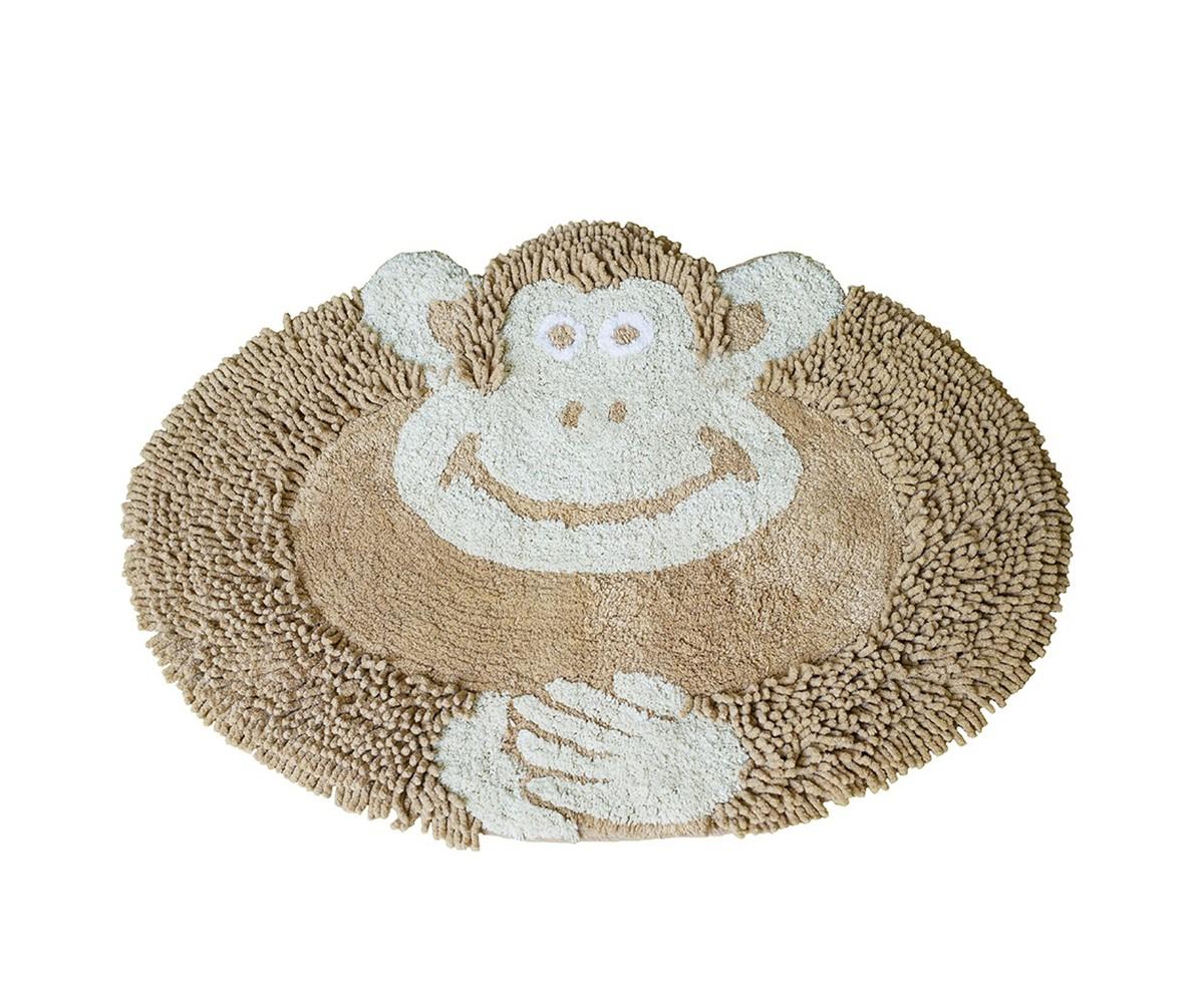 Коврик ОбезьянкаФигурные ковры<br>Коврик имеет оригинальный дизайн в виде обезьянки, необычайно мягкий и приятный на ощупь, имеет ворс двух видов - длинный и короткий. <br>Благодаря своему составу (100% хлопок), он обладает гипоаллергенными свойствами, экологичен и очень удобен в использовании и в уходе. Можно стирать в машинке.<br><br>Material: Хлопок<br>Ширина см: 50<br>Глубина см: 80