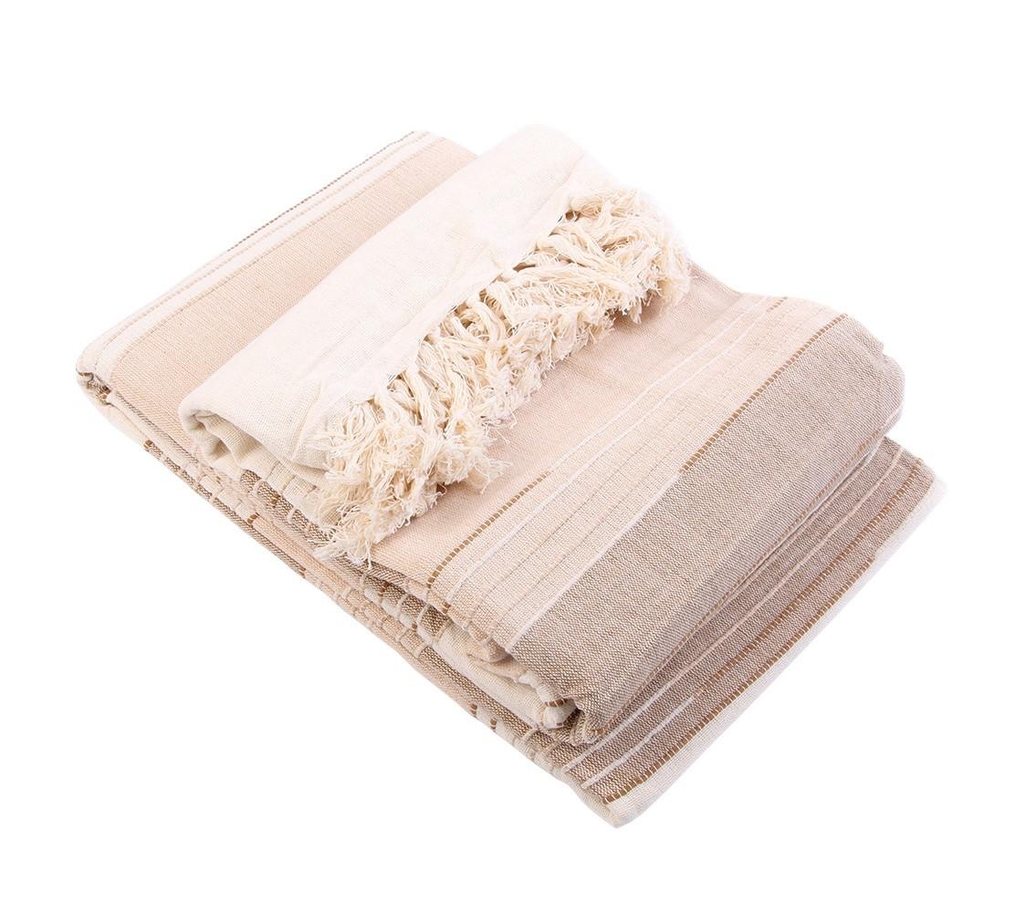 Покрывало самотканоеПокрывала<br>Самотканное классическое покрывало из 100% экологически чистого хлопка, произведенного в Индии. Чередование полос разного оттенка позволяет легко комбинировать такое покрывало с другими предметами интерьера, а нарядные кисточки по краям служат дополнительным украшением изделия. Изделие выполнено из ткани средней плотности и при желании его можно использовать в качестве шторы или даже скатерти.&amp;amp;nbsp;&amp;lt;div&amp;gt;&amp;lt;br&amp;gt;&amp;lt;/div&amp;gt;&amp;lt;div&amp;gt;Вес 1,45кг&amp;lt;/div&amp;gt;<br><br>Material: Хлопок<br>Ширина см: 180<br>Глубина см: 250