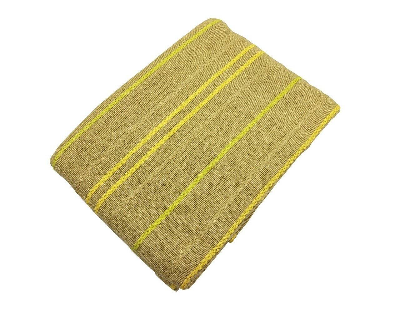 Покрывало СтокгольмПокрывала<br>Оригинальное тканное хлопковое покрывало болотного цвета с контрастными полосами. Обработка края - подгиб.<br><br>Material: Хлопок<br>Ширина см: 200<br>Глубина см: 240