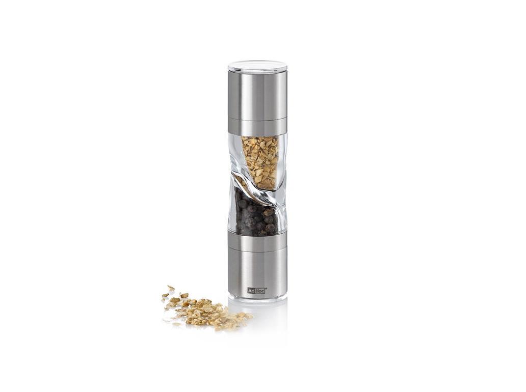 Мельница 2 в 1 для соли и перца и специй AdHocАксессуары для кухни<br><br><br>Material: Металл<br>Высота см: 15