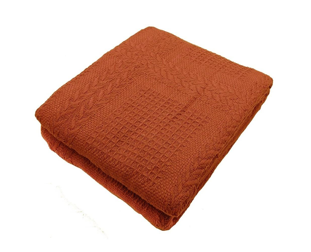 Покрывало МарсельПокрывала<br>Хлопковое объемное вязаное покрывало насыщенного кирпичного цвета.&amp;amp;nbsp;&amp;lt;div&amp;gt;Край покрывала оформлен кистями.&amp;lt;/div&amp;gt;<br><br>Material: Хлопок<br>Length см: None<br>Width см: 160<br>Depth см: 220<br>Height см: None<br>Diameter см: None