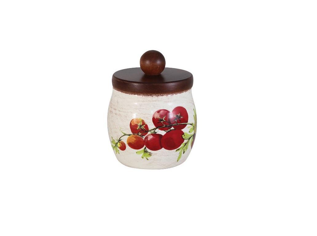 Банка для сыпучих продуктов Овощное ассортиЕмкости для хранения<br><br><br>Material: Керамика<br>Height см: 15<br>Diameter см: 10,5
