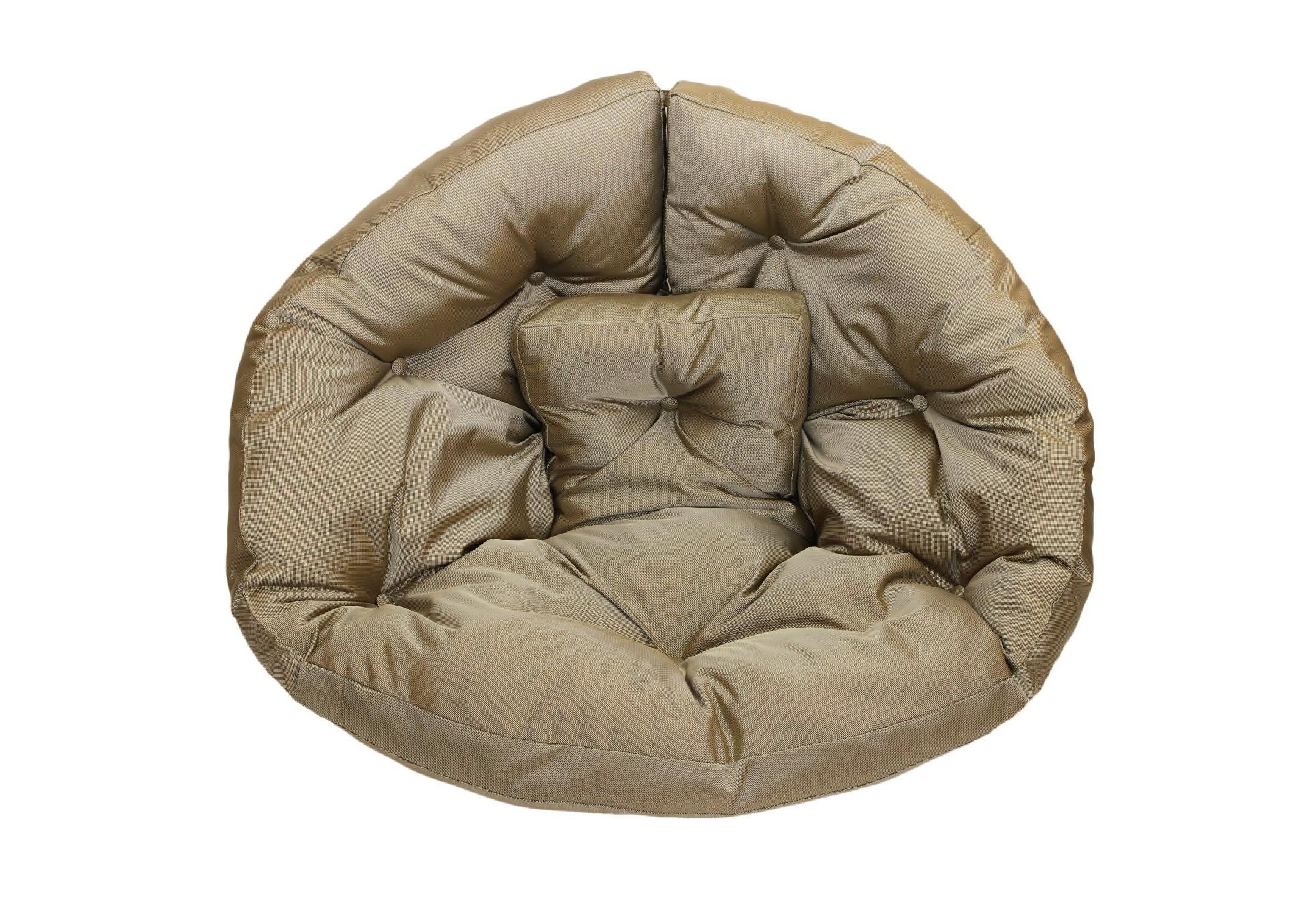 Кресло-футон WoodКресла-мешки<br>Кресло-футон станет функциональной частью вашего интерьера, как дома, так и на улице. Вы можете уютно разместиться  в кресле или с легкостью превратить его в очень мягкий матрас-футон. Так же при помощи липучек вы можете соединить два футона и сделать один большой матрас для загара под солнцем или отдыха дома. Кресло сшито из очень плотной ткани с водооталкивающим покрытием с внешней стороны, поэтому идеально подойтет для уличного декора.При загрязнении его достаточно протереть мокрой салфеткой.<br><br>Material: Текстиль<br>Length см: None<br>Width см: 200<br>Depth см: 100<br>Height см: 10