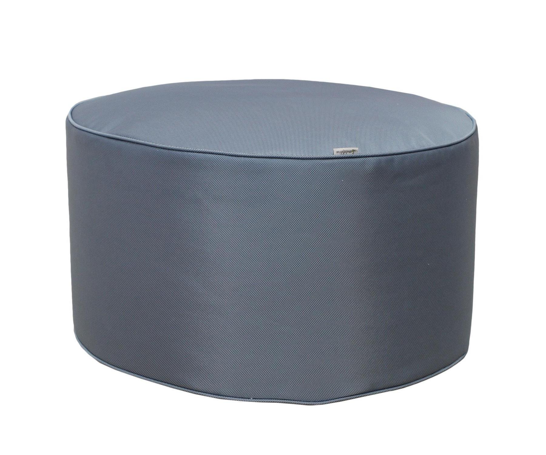 Круглый пуф Sky BlueФорменные пуфы<br>Этот круглый пуф необыкновенно легок (900 гр) и функционален. Пуф сшит из очень плотной ткани с водооталкивающим покрытием с внешней стороны, поэтому идеально подойтет для уличного декора.При загрязнении его достаточно протереть мокрой салфеткой.<br><br>Material: Текстиль<br>Height см: 30<br>Diameter см: 55