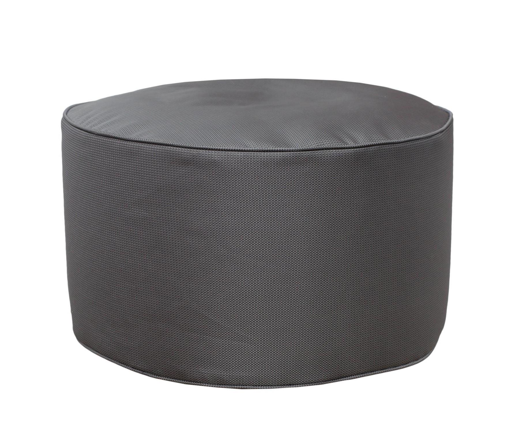 Круглый пуф  SilverФорменные пуфы<br>Этот круглый пуф необыкновенно легок (900 гр) и функционален. Пуф сшит из очень плотной ткани с водооталкивающим покрытием с внешней стороны, поэтому идеально подойтет для уличного декора.При загрязнении его достаточно протереть мокрой салфеткой.<br><br>Material: Текстиль<br>Height см: 30<br>Diameter см: 55