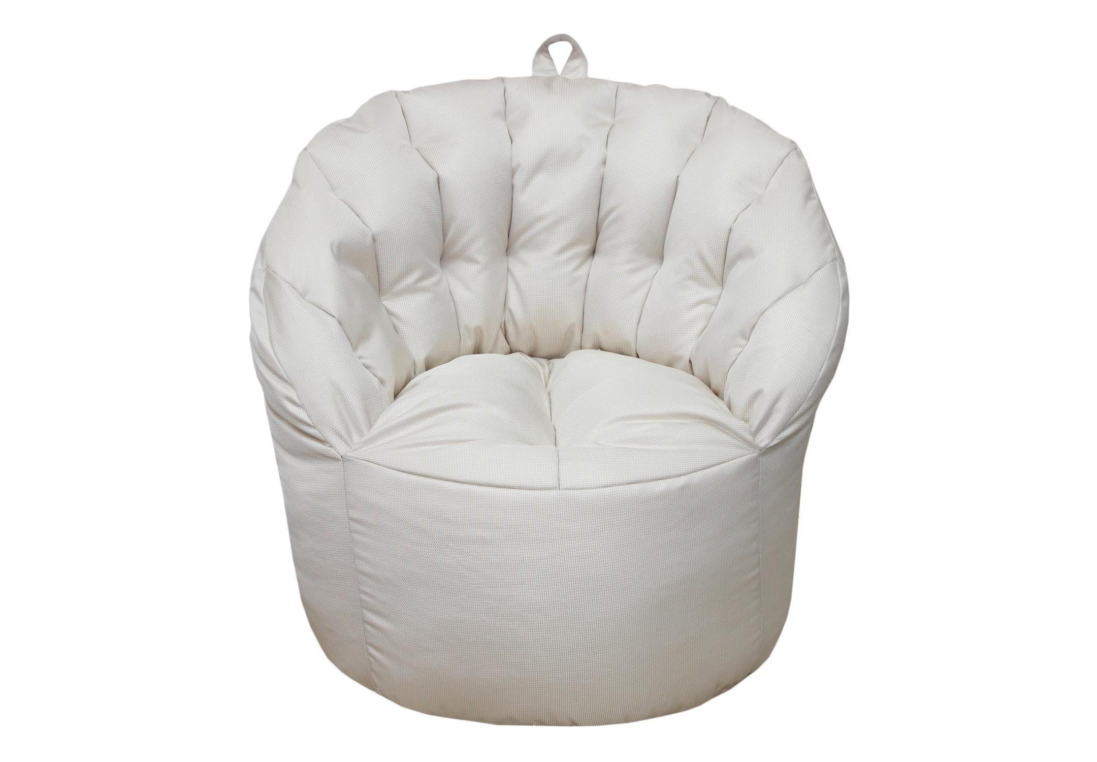 Уличное кресло- пуф White PearleФорменные пуфы<br>Очень комфортное и  легкое  кресло-пуф станет неотъемлемой частью вашего интерьера как дома ,так и на улице. Сиденье и спинка кресла великолепно поддерживают и принимают форму тела, обеспечивая комфортный отдых. Читайте книгу, общайтесь с друзьями или просто наслаждайтесь лучами летнего солнца удобно разместившись в этом кресле!  Оно сшито из очень плотной ткани с водооталкивающим покрытием с внешней стороны, поэтому идеально подойдет для уличного декора.При загрязнении его достаточно протереть мокрой салфеткой.<br><br>Material: Текстиль<br>Length см: None<br>Width см: 80<br>Depth см: 60<br>Height см: 90