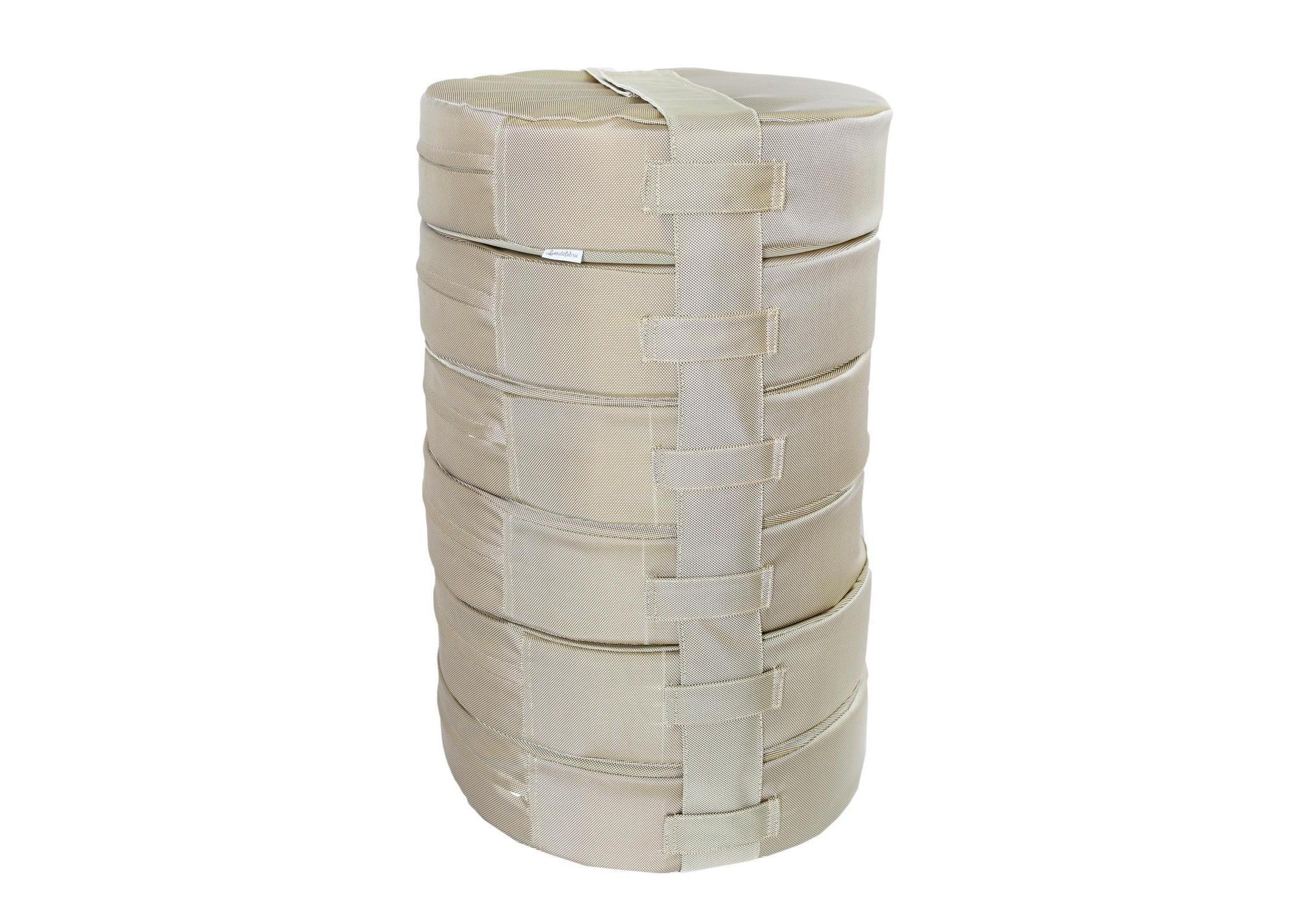 Подушка на пол Wood (6шт)Форменные пуфы<br>Мягкие и очень удобные подушки на пол из водооталкивающей ткани с наполнителем из поролона станут функциональным предметом для комфортного отдыха. Контраст вставки с основным цветом изделия добавит изюминку в ваше пространство! Подушка сшита из очень плотной ткани с водооталкивающей пропиткой с внешней стороны, поэтому идеально подойдет для уличного декора. Набор подушек удобно хранить и перевозить в машине, за счет компактной упаковки. При загрязнении ее достаточно протереть влажной салфеткой!&amp;amp;nbsp;&amp;lt;div&amp;gt;&amp;lt;br&amp;gt;&amp;lt;/div&amp;gt;&amp;lt;div&amp;gt;Размер каждой подушки 10х40 см.&amp;amp;nbsp;&amp;lt;/div&amp;gt;<br><br>Material: Текстиль<br>Height см: 60<br>Diameter см: 40