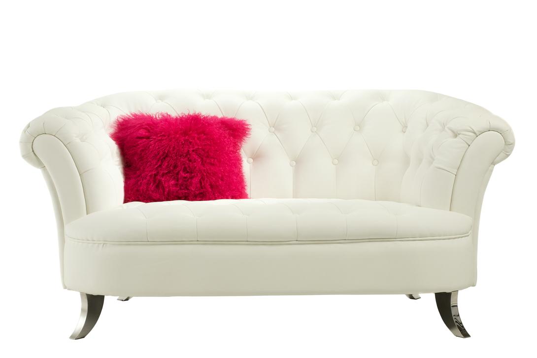 Диван ParisienneДвухместные диваны<br>Кокетливый и изящный белоснежный диван создаст в интерьере легкую и непринужденную атмосферу. Он очень компактен и идеально впишется в интерьер как в классическом, так и в современном стиле.<br><br>Цвет: белый<br>Материал: деревянный каркас, ножки из нержавеющей стали<br>Обивка: экокожа<br>Вес: 53 кг<br><br>Material: Кожа<br>Length см: 166.0<br>Width см: 103.0<br>Depth см: None<br>Height см: 80.0<br>Diameter см: None