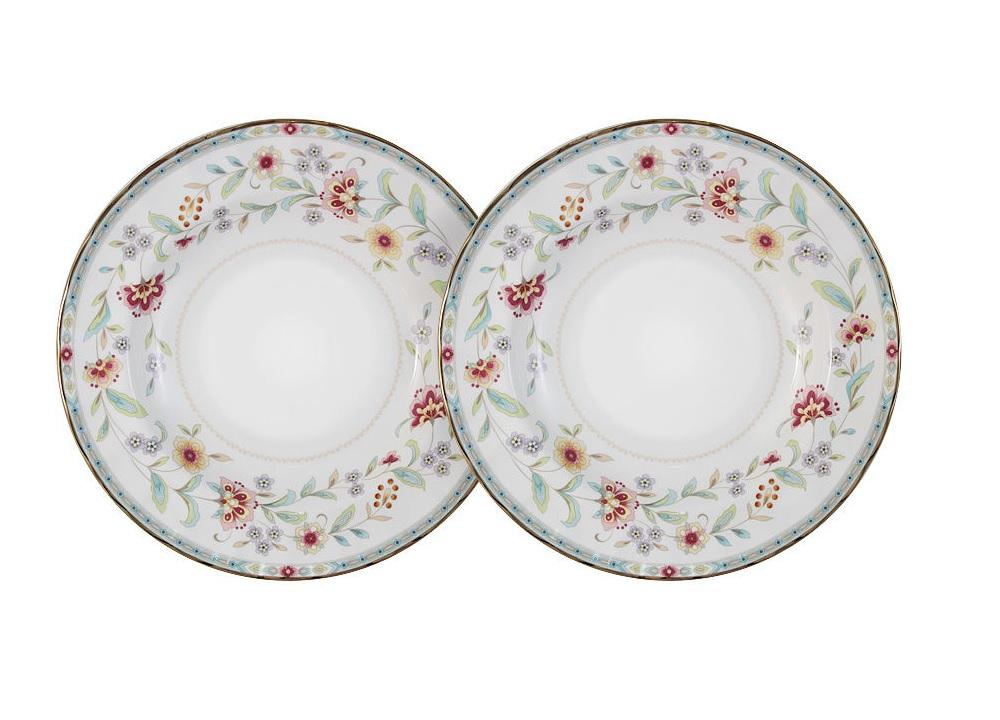 Набор суповых тарелок Грейс (2 шт)Тарелки<br><br><br>Material: Фарфор<br>Diameter см: 23