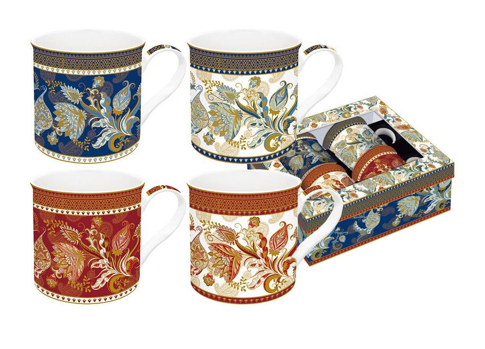 Набор кружек Шангри-Ла (4 шт)Чайные пары, чашки и кружки<br>Объем 0,3 л<br><br>Material: Фарфор<br>Height см: 12,5<br>Diameter см: 8,2
