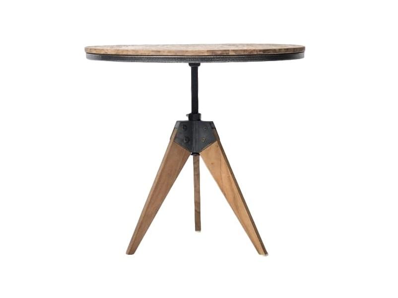 Кофейный столик FendyКофейные столики<br>Консольный стол – универсальный «специалист широкого профиля». Компактен, потому с лёгкостью размещается даже в самых скромных по площади помещениях. В прихожей на него удобно класть вещи и ставить сумки.&amp;amp;nbsp;<br><br>Material: Тик<br>Length см: None<br>Width см: None<br>Depth см: None<br>Height см: 50<br>Diameter см: 70