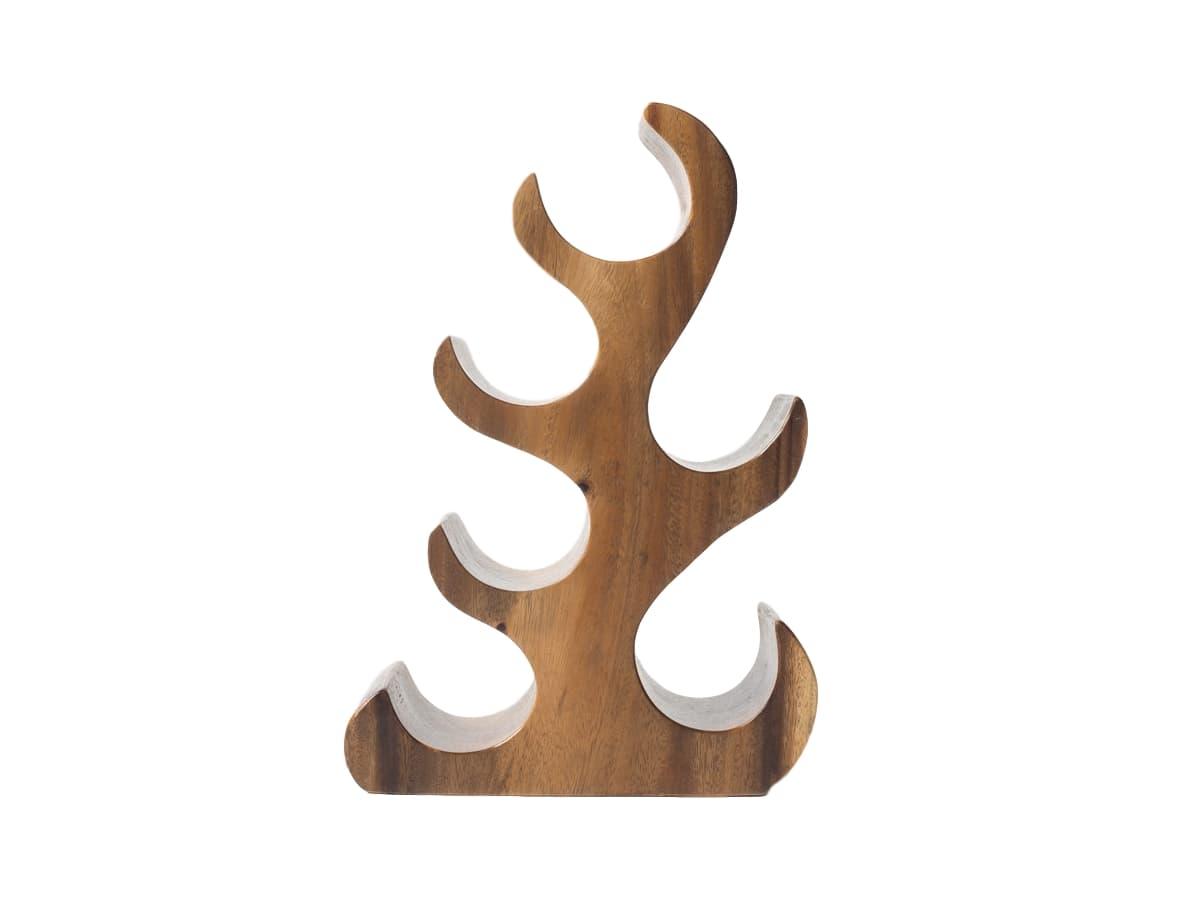 Подставка для 6 бутылокПодставки и доски<br>Оригинальная подставка для бутылок из суара, напоминающая по форме дерево. Выразительная текстура подчеркивает стильные изгибы, которые позволяют разместить шесть бутылок.&amp;amp;nbsp;&amp;lt;div&amp;gt;&amp;lt;br&amp;gt;&amp;lt;/div&amp;gt;&amp;lt;div&amp;gt;Материал: суар (дерево)&amp;lt;/div&amp;gt;<br><br>Material: Дерево<br>Ширина см: 28<br>Высота см: 45<br>Глубина см: 14
