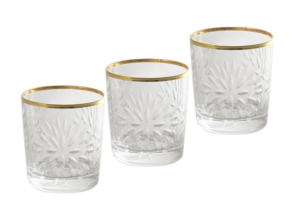 Набор стаканов для виски Умбрия - золото (6 шт)Стаканы<br>Объем одного стакана 0,3 л<br><br>Material: Хрусталь<br>Высота см: 9
