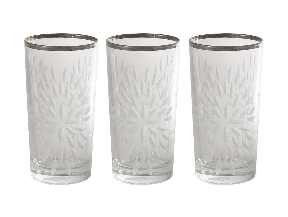 Набор стаканов для воды Умбрия Матовая - платина (6 шт)Стаканы<br>Объем одного стакана 0,35 л<br><br>Material: Хрусталь