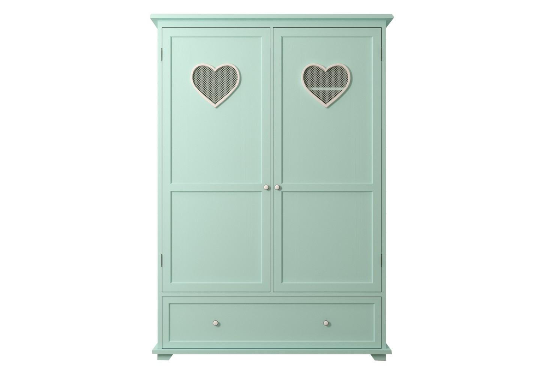 Шкаф двустворчатый AdelinaБельевые шкафы для детской<br><br><br>Material: Дерево<br>Ширина см: 130<br>Высота см: 186<br>Глубина см: 52