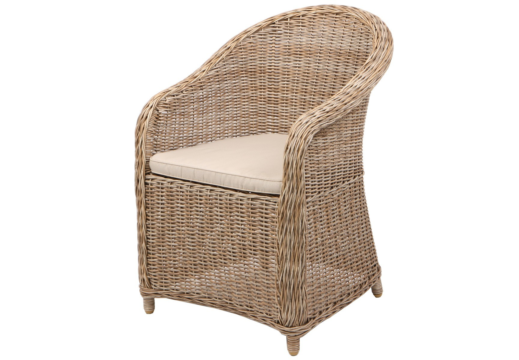 Кресло CoventryКресла для сада<br>Кресло изготовлено из полукруглого искусственного ротанга. Цвет натуральный, подушка темно-серого цвета включена в стоимость<br><br>Material: Искусственный ротанг<br>Ширина см: 71<br>Высота см: 87<br>Глубина см: 61